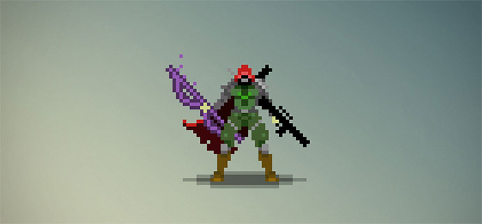 Hunter from Destiny in Pure CSS [8-Bit]