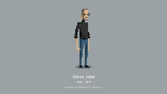 Steve Jobs css pixel art