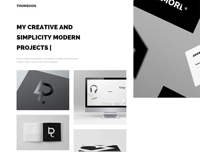 THOMSOON - Free responsive Portfolio Theme [DOWNLOAD]