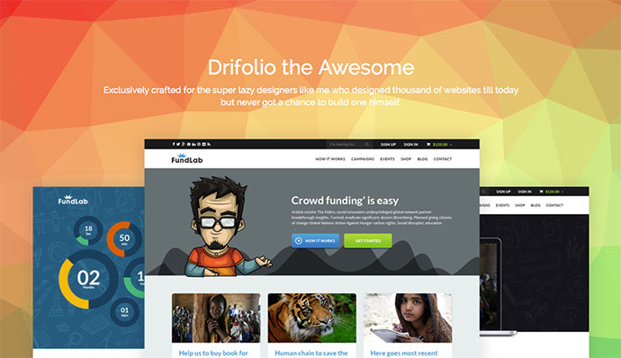 Drifolio – Free Responsive Dribbble Portfolio Template