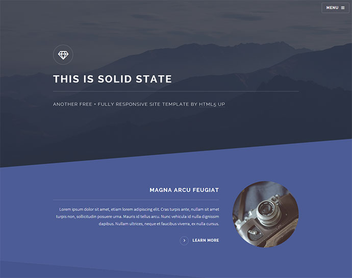 Geometry html website template