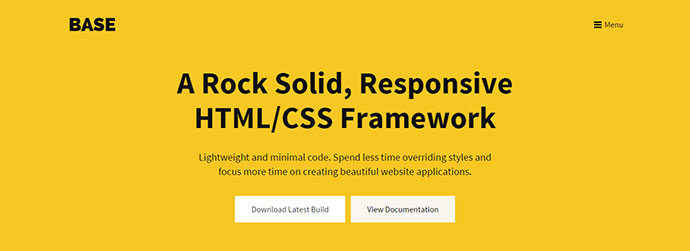 A Rock Solid, Responsive HTML/CSS Framework