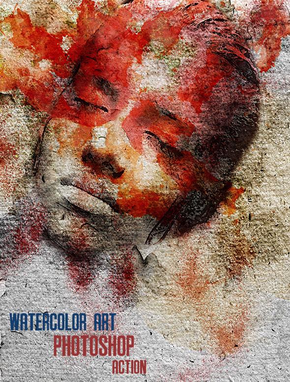 Watercolor Art - Photoshop Action