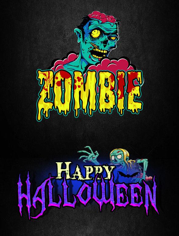 Cartoon Halloween Text Effect V2