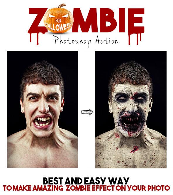 Zombie Photoshop Action