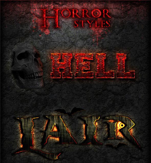 Horror Photoshop Styles