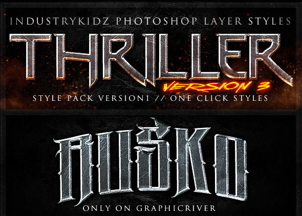 Thriller Photoshop Layer Styles V3