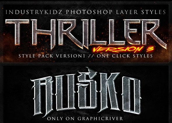 Thriller Photoshop Layer Styles V3