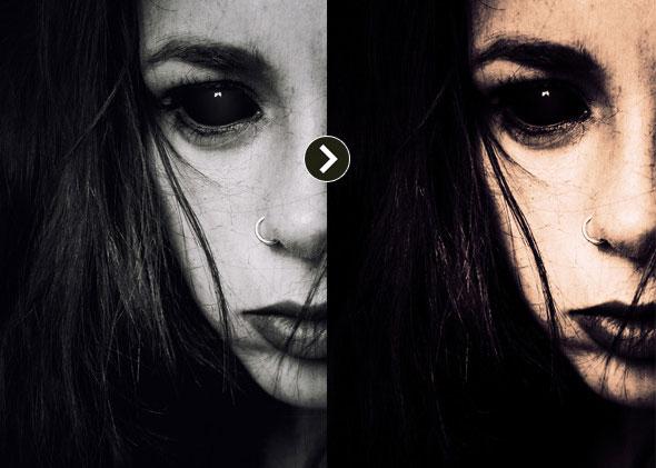 Halloween & Horror Dark Photoshop Action