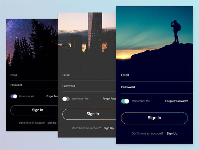 50 Modern Sign-Up & Login Form UI Designs – Bashooka