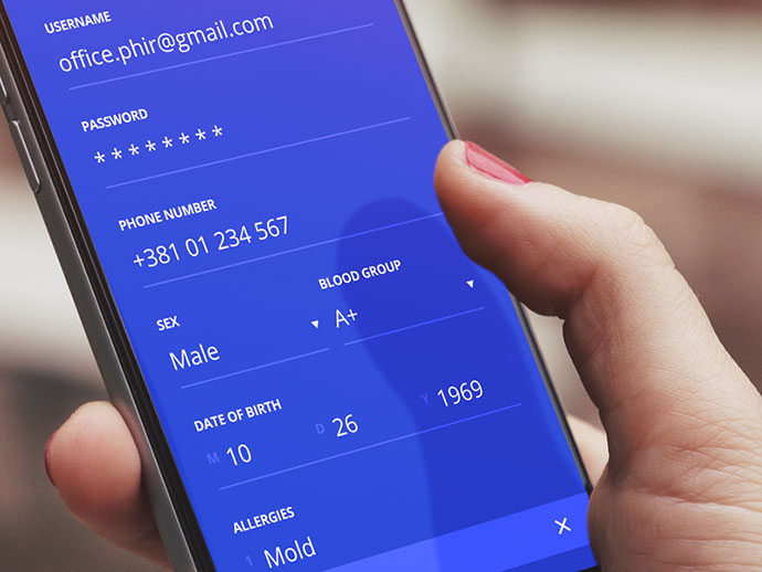 Signup screen - iOS app design