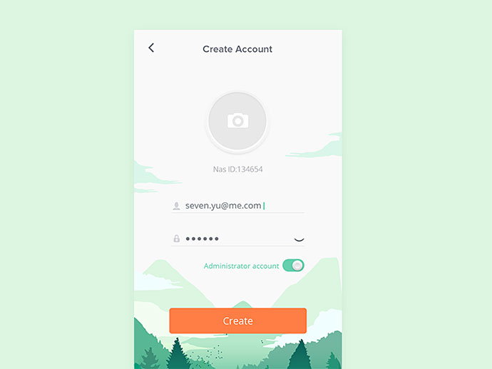 Create account concept