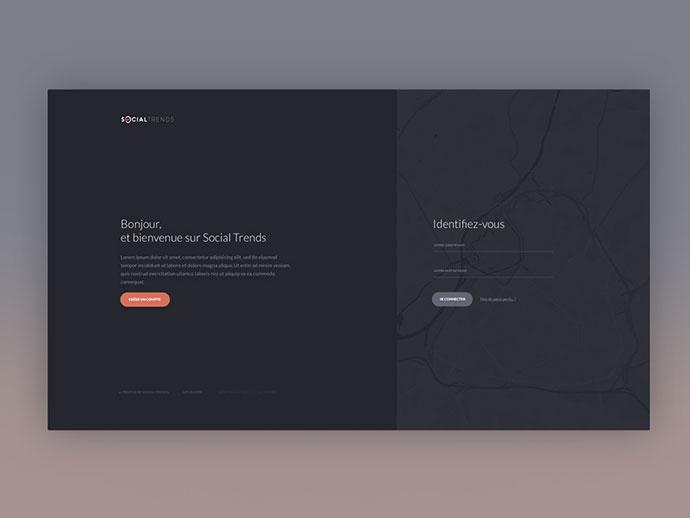 50个现代网页注册和登录页面设计案例
