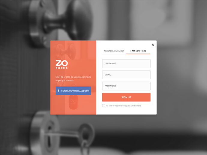Zo Rooms Signup/Login