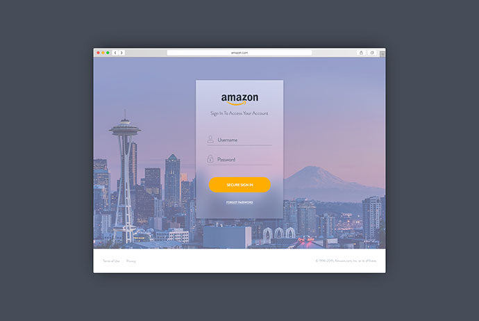Amazon Sign In Redesign #3