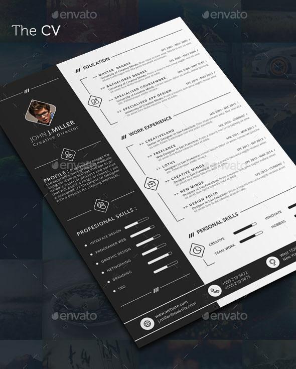 30 Best Resume Template Designs 2015 Web Graphic Design Bashooka