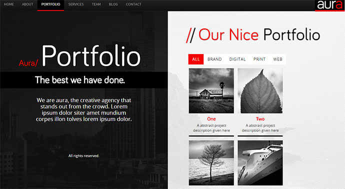 aura wordpress theme