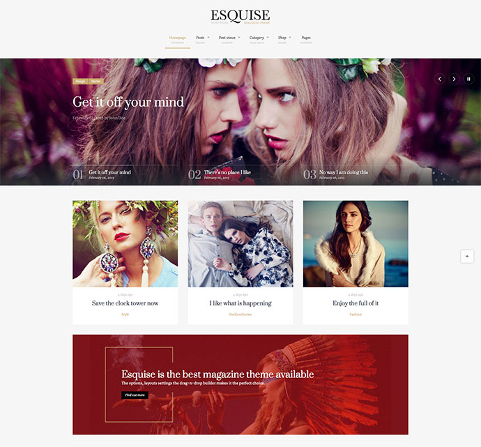Esquise - Magazine WordPress Theme