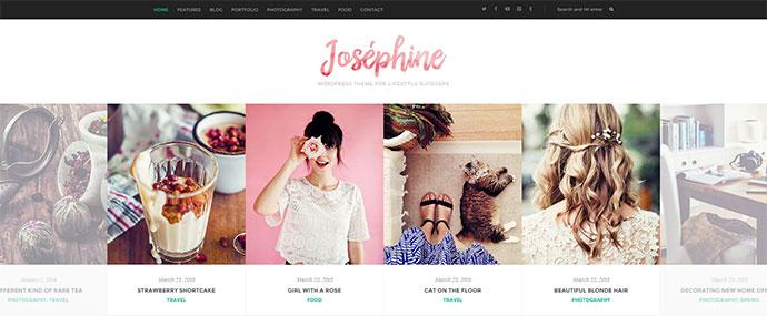 Josephine - WordPress Theme For Lifestyle Bloggers