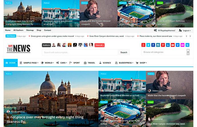 EliteNews - Magazine WordPress theme