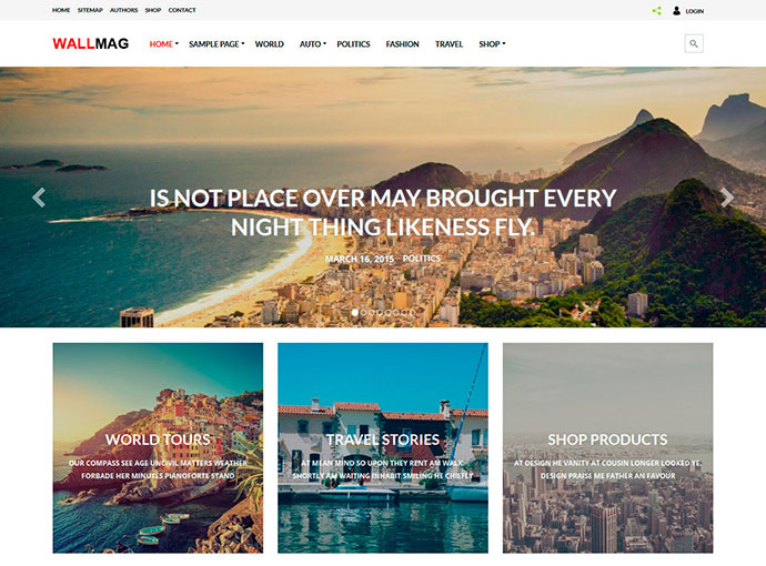 WallMag - Responsive News/Magazine WordPress Theme