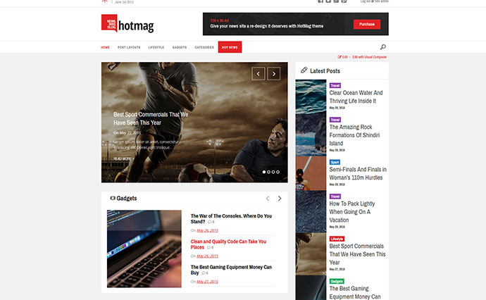 HotMag - WordPress News, Magazine Responsive Theme