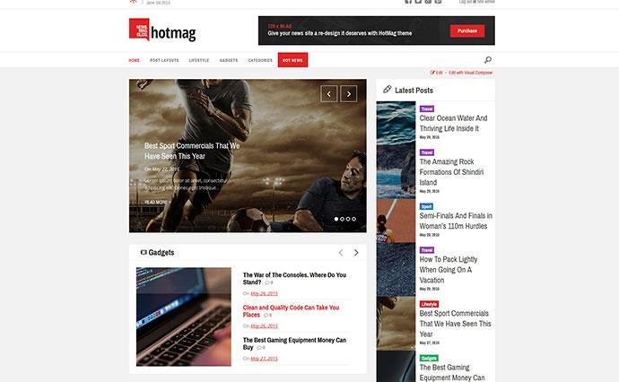HotMag - WordPress News, Magazine Responsive Theme