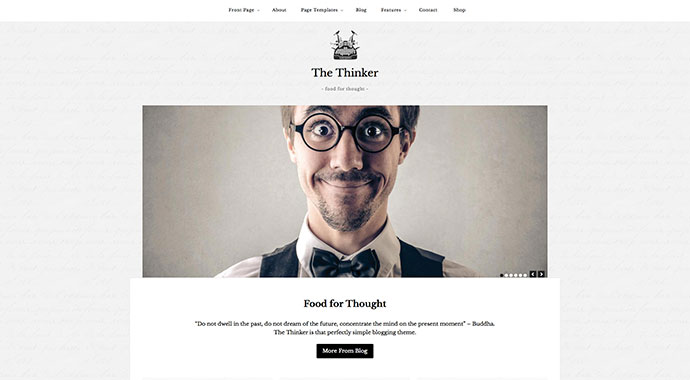 The Thinker - Simple Blogging WordPress Theme