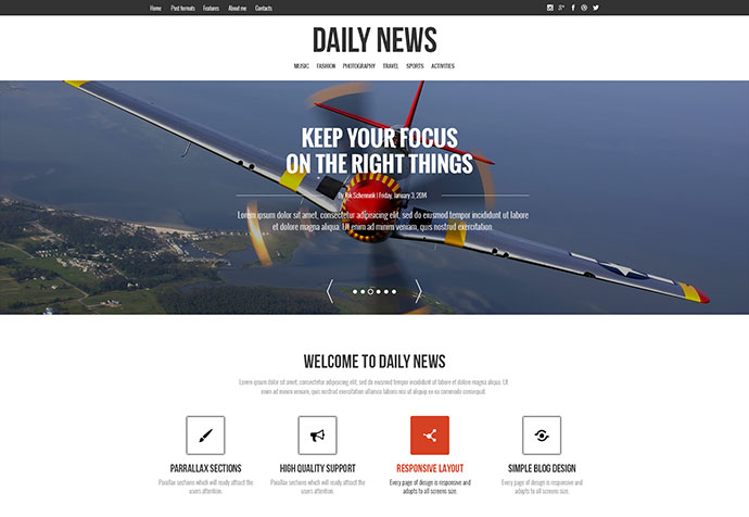 DAILYNEWS - Magazine | Blog | Personal WordPress Theme