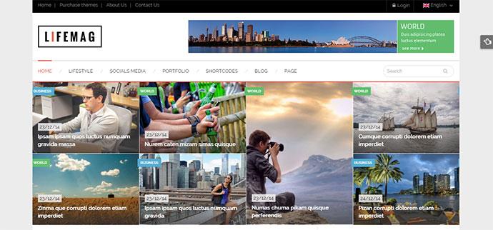LifeMag - Responsive Magazine WordPress Theme