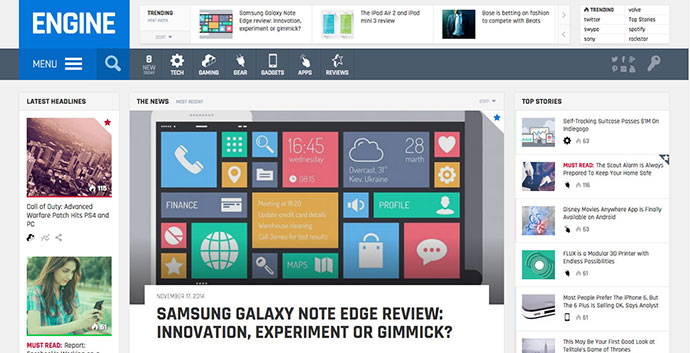 Engine - Drag and Drop News Magazine w/ Minisites