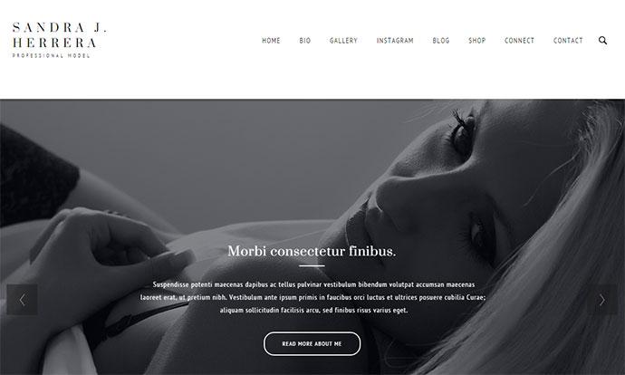 Modish - Fashion Model WordPress Theme