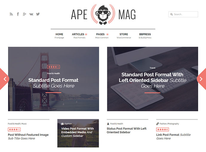Apemag: Stylish magazine with review system