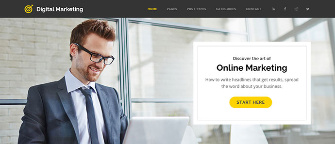 Digital Marketing - Blog WordPress Theme