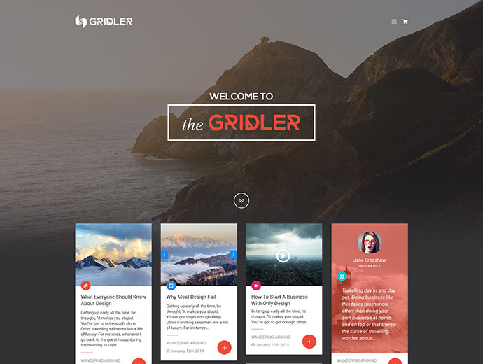Gridler - Masonry Blog & Portfolio WordPress Theme