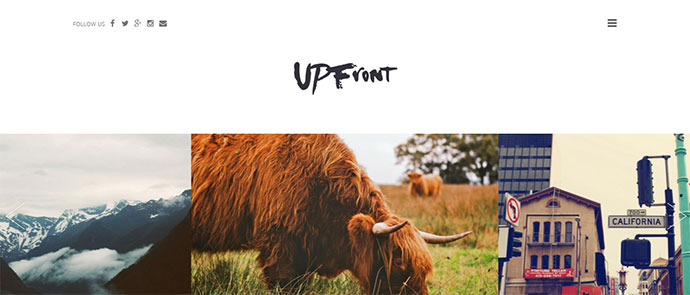 UPFront -  Light Magazine / Blog WordPress Theme