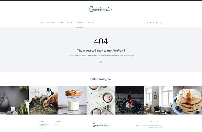 Gardenia - WordPress Personal Blog Theme