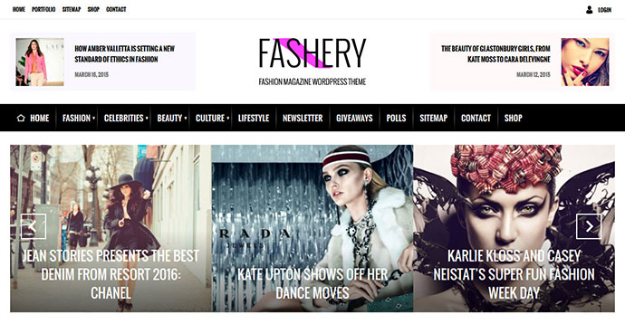 Fashery - Fashion/Magazine WordPress Theme