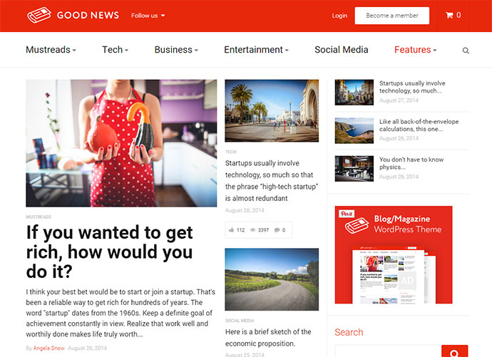 Good News - Multi-Niche Blog / Magazine WordPress Theme