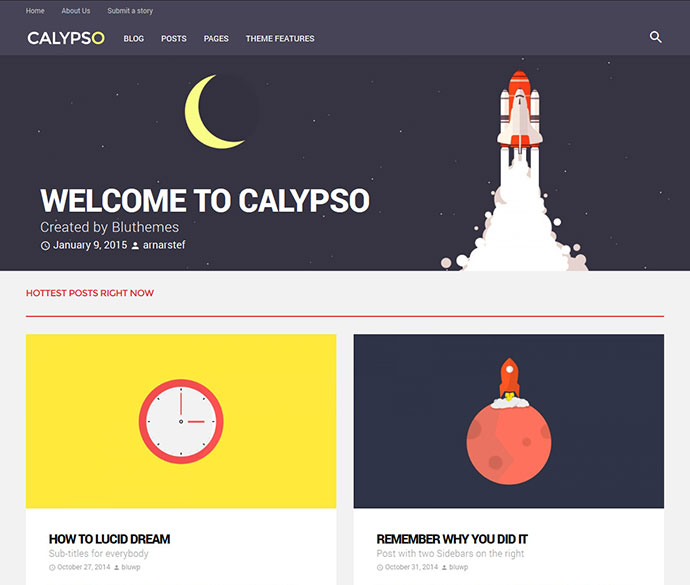 Calypso | Material Design WordPress Theme