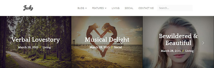 July | Simple & Elegant WordPress Blog Theme