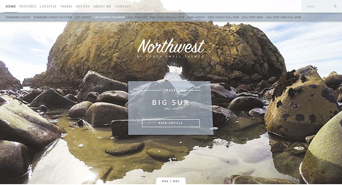 NorthWest - A Simple WordPress Blog Theme
