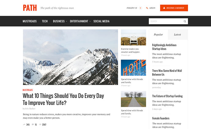 Path - Responsive Multipurpose Blog/Magazine Theme