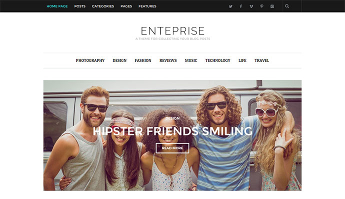 Enterprise - Responsive Magazine, News, Blog Theme