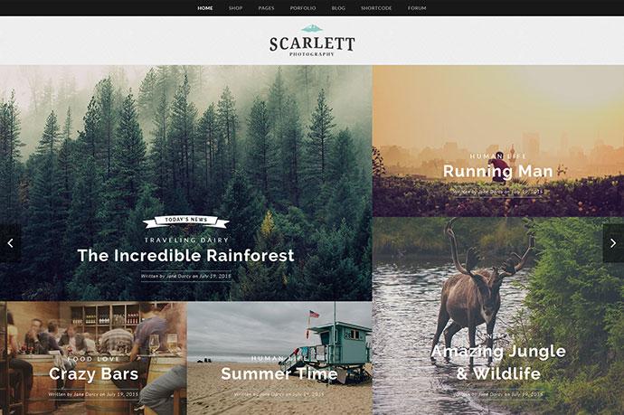Scarlett - WordPress Blog & Ecommerce Theme