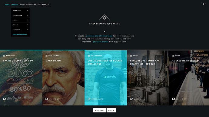 Atica - WordPress Creative Blog Theme