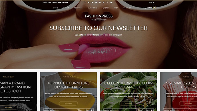 FashionPress WordPress Theme for Fashion Bloggers