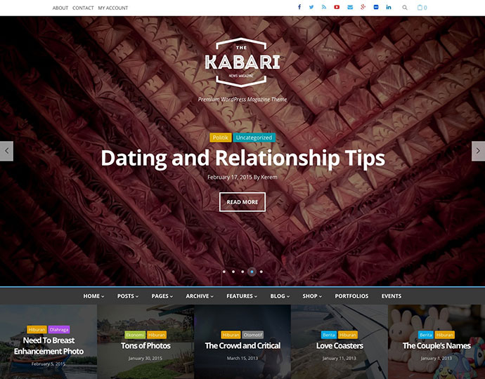 Kabari - News & Magazine WordPress Theme