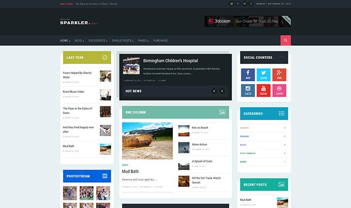 Sparkler - Responsive WordPress Magazine Theme