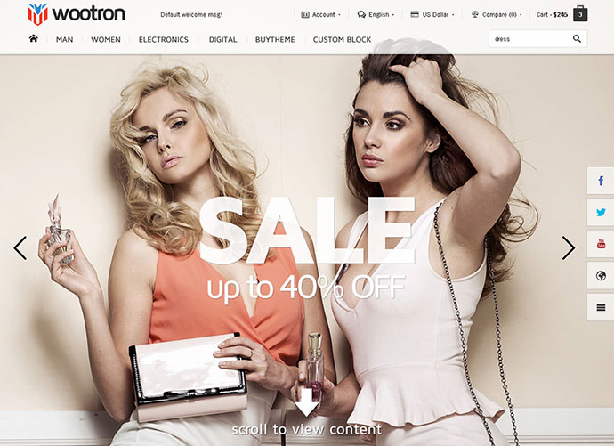 Wootron - MultiPurpose WooCommerce WordPress Theme